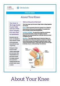 photograph relating to Printable Patient Education Handouts named Printable Orthopaedic Affected individual Education and learning - OrthoInfo - AAOS