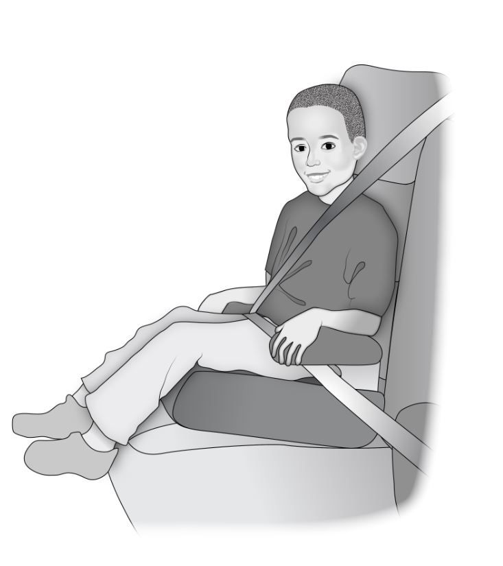 Child in car booster seat