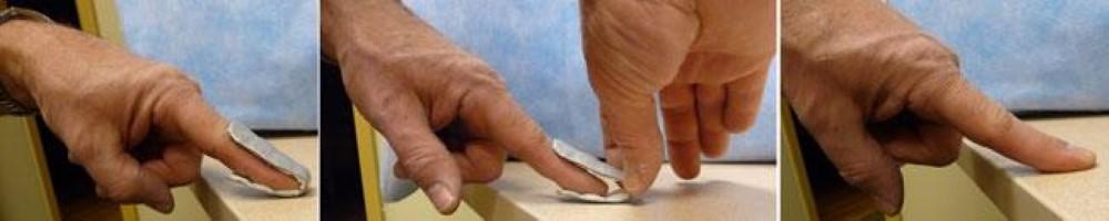 Cleaning finger splint