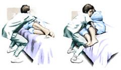 Helping patient to sitting position