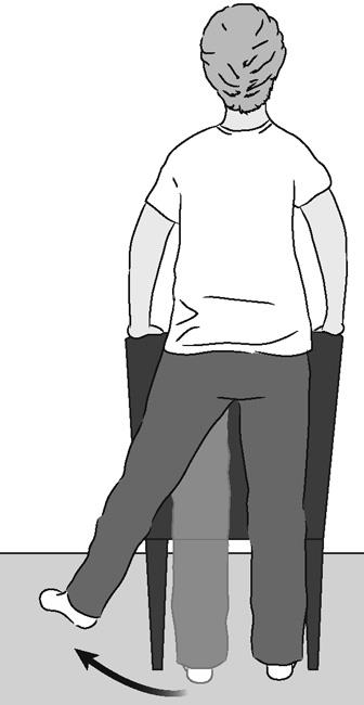 Illustration of standing hip abduction