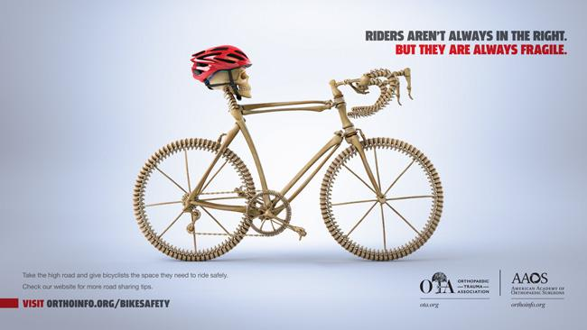 AAOS print public service advertisement for bike safety